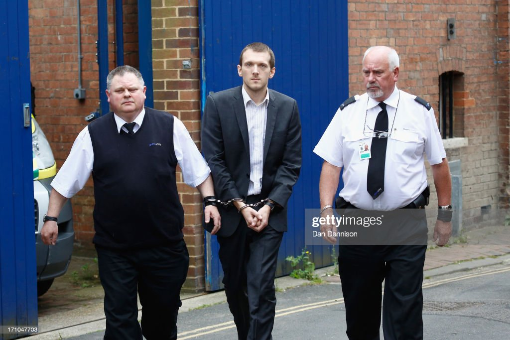 <a gi-track='captionPersonalityLinkClicked' href=/galleries/search?phrase=Jeremy+Forrest&family=editorial&specificpeople=9758418 ng-click='$event.stopPropagation()'>Jeremy Forrest</a> is escorted to a waiting prison van outside Lewes Crown Court on June 21, 2013 in Lewes, England. Forrest, 30, was sentenced to five and half years in prison after being found guilty by a jury of the abduction a 15 year old female pupil, with whom he was having a relationship and disappeared with to France for over a week last September.