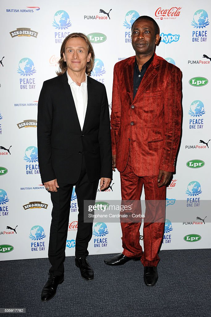 Jeremy Gilley and Youssou N'Dour attend the Peace One Day Celebration 2010 held at the Zenith in Paris.