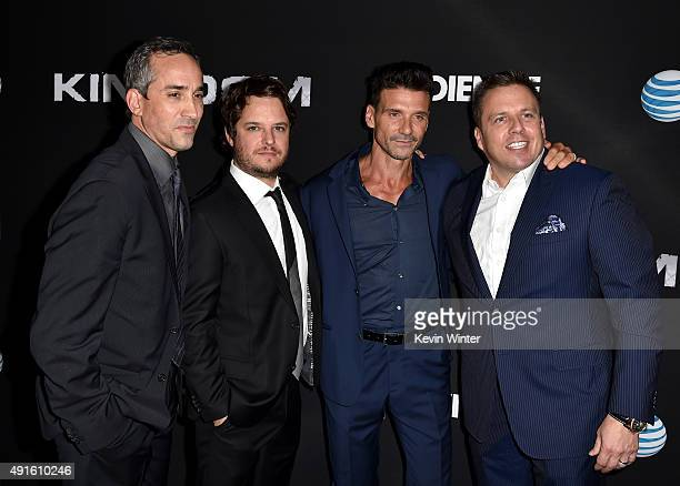 Jeremy Gold EVP Endemol Shine Studios creator/EP Byron Balasco actor Frank Grillo and Chris Long Senior Vice President Original Content and...