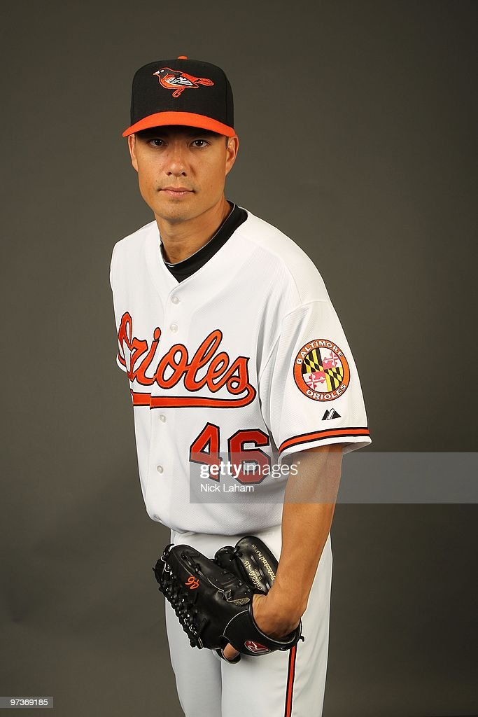 <a gi-track='captionPersonalityLinkClicked' href=/galleries/search?phrase=Jeremy+Guthrie&family=editorial&specificpeople=650221 ng-click='$event.stopPropagation()'>Jeremy Guthrie</a> #46 of the Baltimore Orioles poses for a photo during Spring Training Media Photo Day at Ed Smith Stadium on February 27, 2010 in Sarasota, Florida.