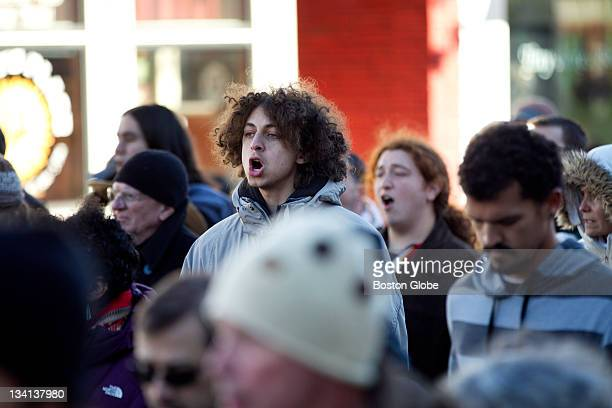 Jeremy Harper who came down with a group with Occupy Boston marches with the National Day of Mourning Members of Occupy Boston travel down to the...