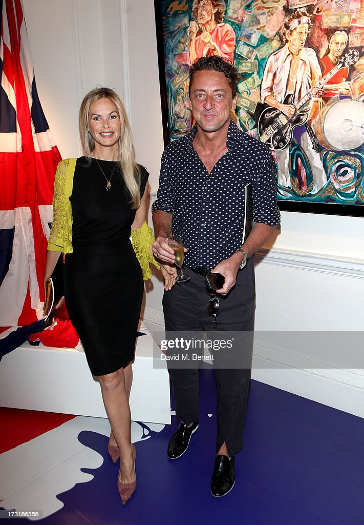 Jeremy Healy attends the Ronnie Wood Raw Instinct Exhibition Summer Party at Castle Fine Art on July 9, 2013 in London, England.
