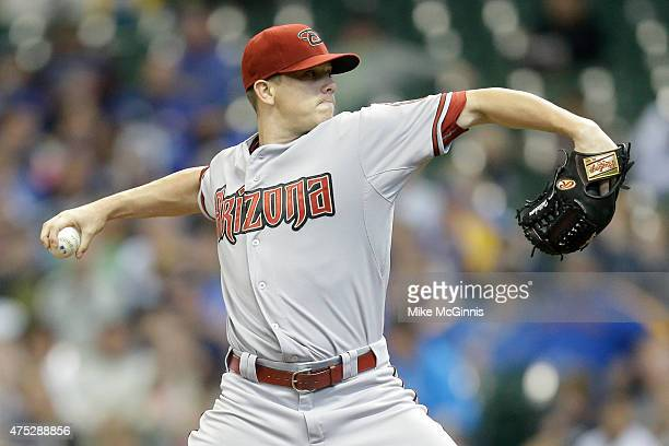 Jeremy Hellickson of the Arizona Diamondbacks during the game against the Milwaukee Brewers at Miller Park on May 30 2015 in Milwaukee Wisconsin