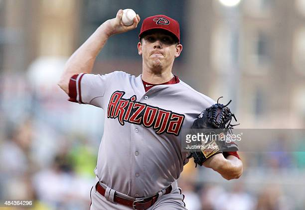 Jeremy Hellickson of the Arizona Diamondbacks pitches in the first inning during the game against the Pittsburgh Pirates at PNC Park on August 17...