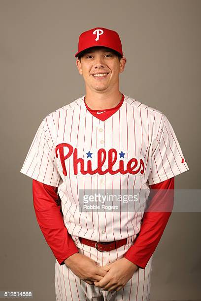 Jeremy Hellickson of the Philadelphia Phillies poses during Photo Day on Friday February 26 2016 at Bright House Field in Clearwater Florida