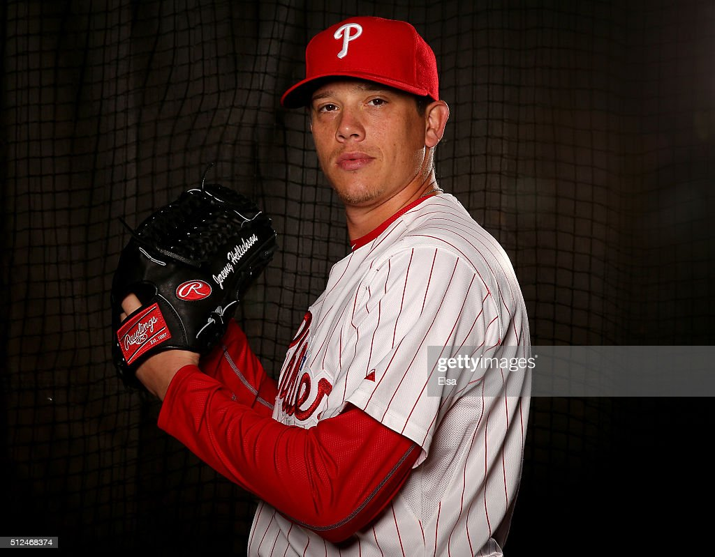 <a gi-track='captionPersonalityLinkClicked' href=/galleries/search?phrase=Jeremy+Hellickson&family=editorial&specificpeople=2364859 ng-click='$event.stopPropagation()'>Jeremy Hellickson</a> #58 of the Philadelphia Phillies poses for a portrait on February 26, 2016 at Bright House Field in Clearwater, Florida.