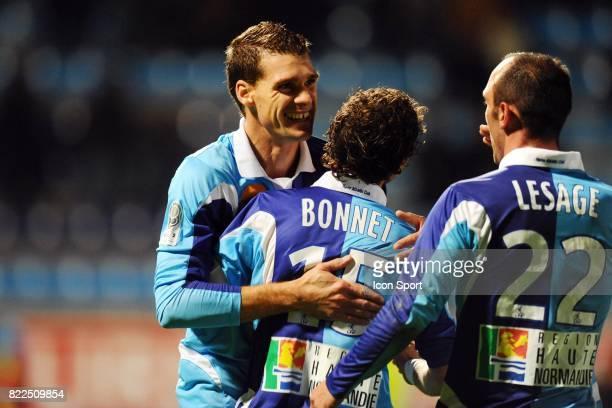 Jeremy HENIN / Alexandre BONNET / Jean Michel LESAGE Le Havre / Nantes 13eme journee de Ligue 2 Stade Municipal Jules Deschaseaux