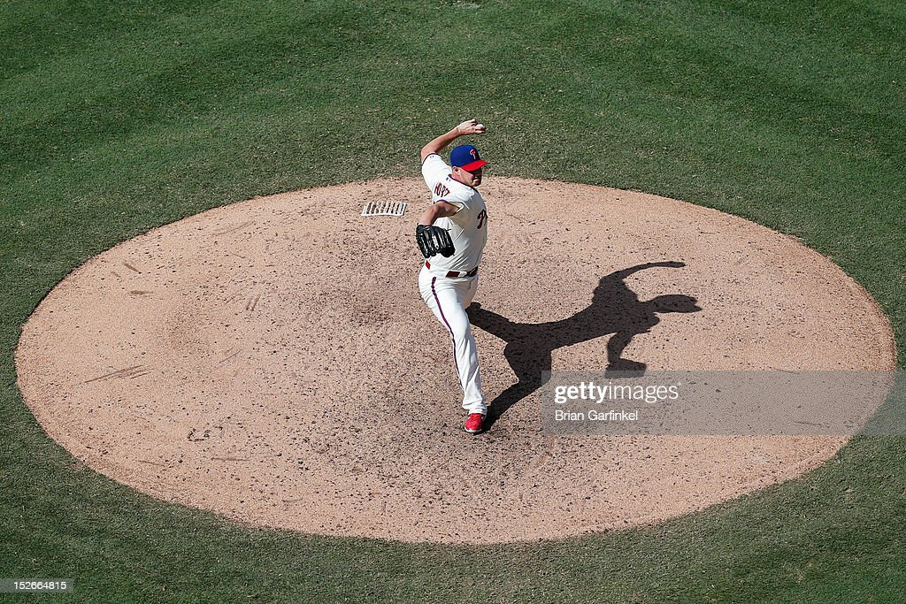 <a gi-track='captionPersonalityLinkClicked' href=/galleries/search?phrase=Jeremy+Horst&family=editorial&specificpeople=7510518 ng-click='$event.stopPropagation()'>Jeremy Horst</a> #47 of the Philadelphia Phillies is seen throwing a pitch from an elevated position during the game against the Washington Nationals at Citizens Bank Park on August 26, 2012 in Philadelphia, Pennsylvania. The Phillies won 4-1.