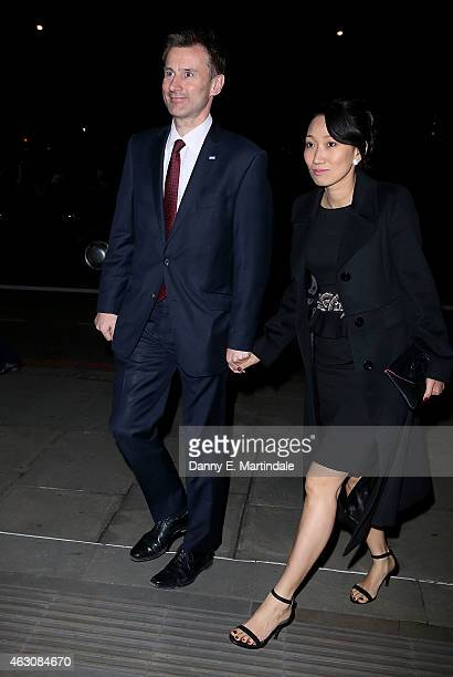 Jeremy Hunt attends the White And Black Ball for the conservative party donors at The Grosvenor House Hotel on February 9 2015 in London England