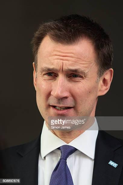 Jeremy Hunt MP secretary of health sighting on February 7 2016 in London England