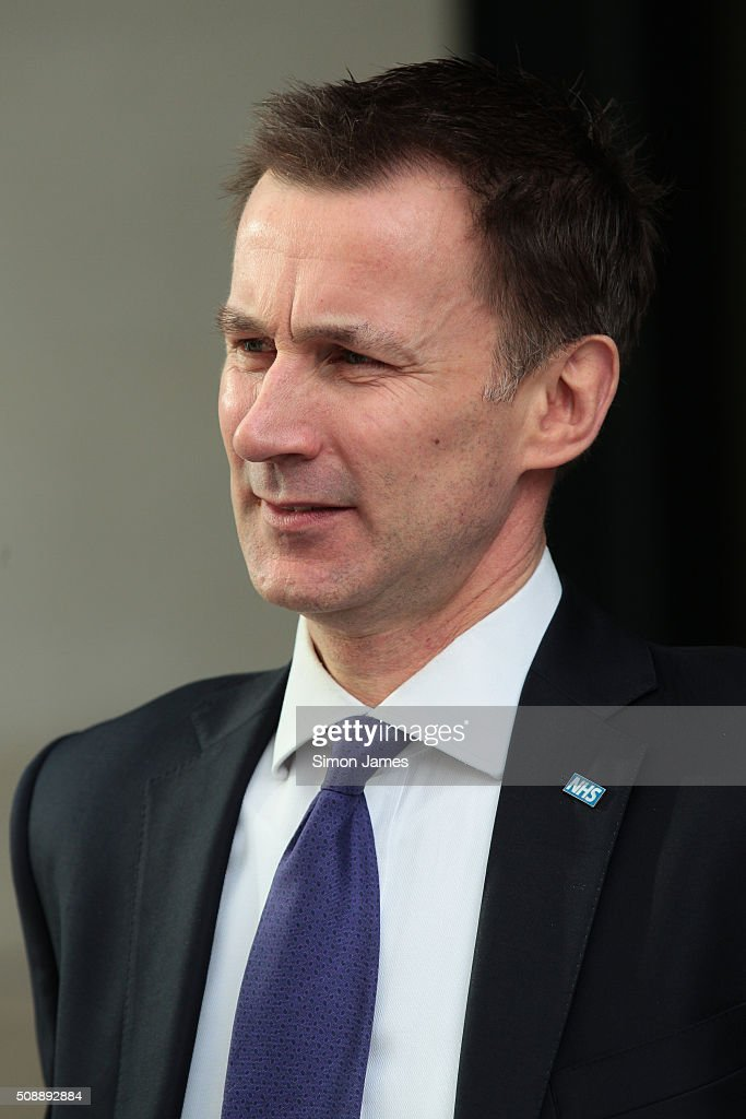 <a gi-track='captionPersonalityLinkClicked' href=/galleries/search?phrase=Jeremy+Hunt+-+Politiker&family=editorial&specificpeople=9161543 ng-click='$event.stopPropagation()'>Jeremy Hunt</a> MP secretary of health sighting on February 7, 2016 in London, England.