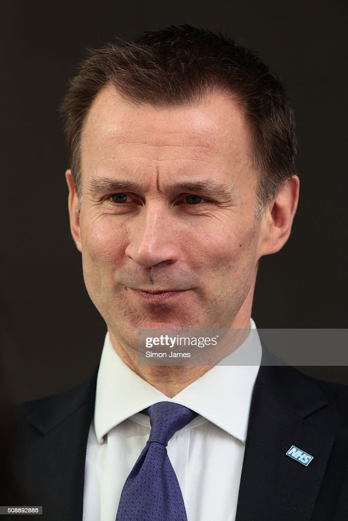 <a gi-track='captionPersonalityLinkClicked' href=/galleries/search?phrase=Jeremy+Hunt+-+Pol%C3%ADtico&family=editorial&specificpeople=9161543 ng-click='$event.stopPropagation()'>Jeremy Hunt</a> MP secretary of health sighting on February 7, 2016 in London, England.