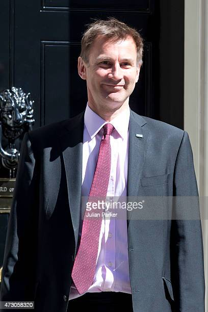 Jeremy Hunt Secretary of State for Health attends the first Conservative Cabinet meeting of The new Government at 10 Downing Street on May 12 2015 in...