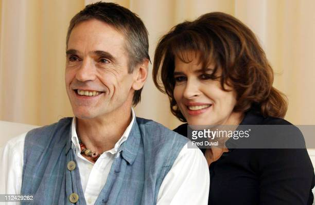 Jeremy Irons and Fanny Ardant during 'Callas Forever' London Photocall at Sanderson Hotel in London Great Britain
