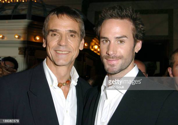 Jeremy Irons and Joseph Fiennes during 2004 Toronto International Film Festival 'Merchant of Venice' Premiere at Elgin Theatre in Toronto Ontario...