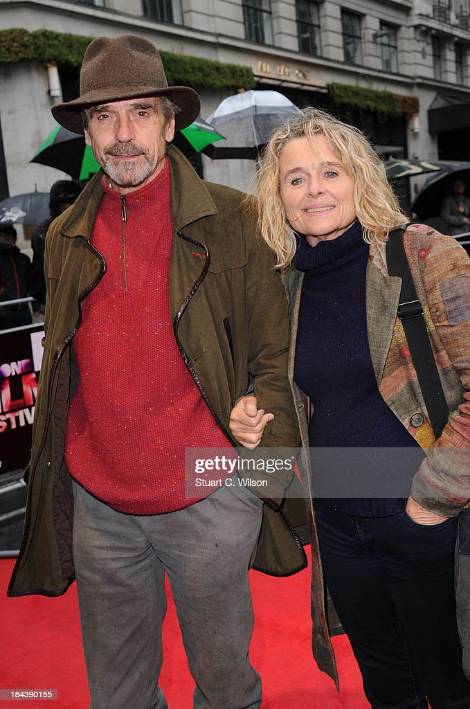 <a gi-track='captionPersonalityLinkClicked' href=/galleries/search?phrase=Jeremy+Irons&family=editorial&specificpeople=203309 ng-click='$event.stopPropagation()'>Jeremy Irons</a> and <a gi-track='captionPersonalityLinkClicked' href=/galleries/search?phrase=Sinead+Cusack&family=editorial&specificpeople=570201 ng-click='$event.stopPropagation()'>Sinead Cusack</a> attend a screening of 'The Last Impresario' during the 57th BFI London Film Festival at Odeon West End on October 13, 2013 in London, England.