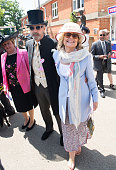 Jeremy Irons and Sinead Cusack attends Ladies Day on day 3 of Royal Ascot at Ascot Racecourse on June 18 2015 in Ascot England