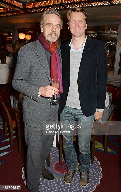 Jeremy Irons and Tom Hooper attend an exclusive dinner hosted by Charles Finch Mulberry and PORTER Magazine for Julian Schnabel at 34 Grosvenor...