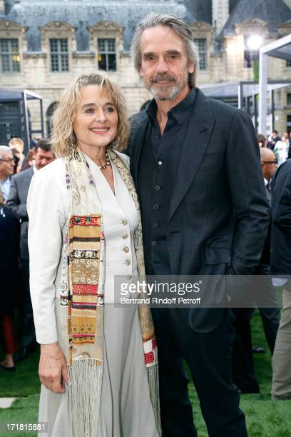 Jeremy Irons and wife Sinead Cusack attend Berluti Menswear Spring/Summer 2014 Show As Part Of The Paris Fashion Week held at Sully hotel on June 28...