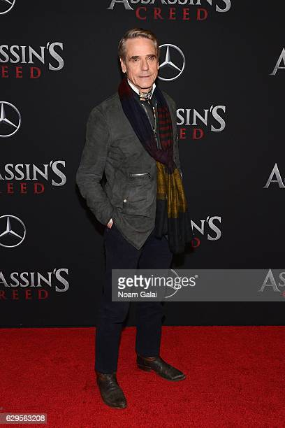 Jeremy Irons attends the 'Assassin's Creed' New York Premiere at AMC Empire 25 theater on December 13 2016 in New York City
