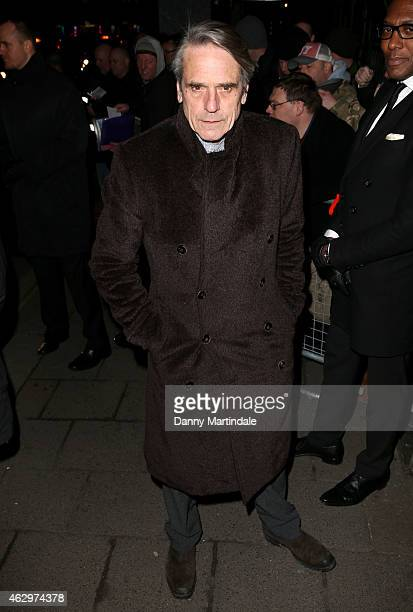 Jeremy Irons attends the Charles Finch CHANEL PreBAFTA party at Annabel's on February 7 2015 in London England