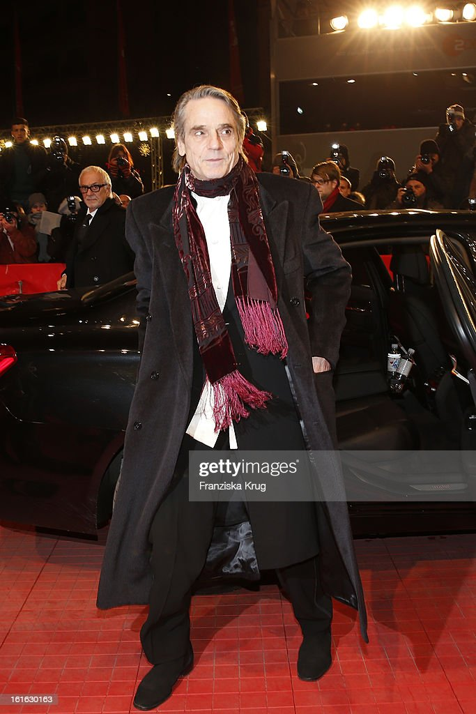 <a gi-track='captionPersonalityLinkClicked' href=/galleries/search?phrase=Jeremy+Irons&family=editorial&specificpeople=203309 ng-click='$event.stopPropagation()'>Jeremy Irons</a> attends the 'Night Train To Lisbon' Premiere - BMW at the 63rd Berlinale International Film Festival at Berlinale Palast on February 13, 2013 in Berlin, Germany.