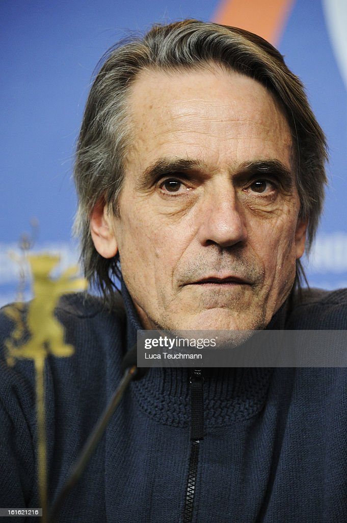 <a gi-track='captionPersonalityLinkClicked' href=/galleries/search?phrase=Jeremy+Irons&family=editorial&specificpeople=203309 ng-click='$event.stopPropagation()'>Jeremy Irons</a> attends the 'Night Train to Lisbon' Press Conference during the 63rd Berlinale International Film Festival at the Grand Hyatt Hotel on February 13, 2013 in Berlin, Germany.
