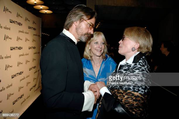 Jeremy Irons Barbara Haskell and Melva Bucksbaum attend GEORGIA O'KEEFFE 'ABSTRACTION' Opening Reception and Dinner at The Whitney Museum on...