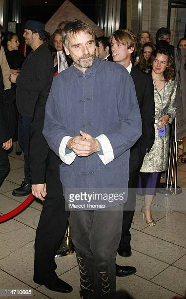 Jeremy Irons during New York Film Festival premiere of Miramax Films 'The Queen' Arrivals at Lincoln Center in New York City New York United States