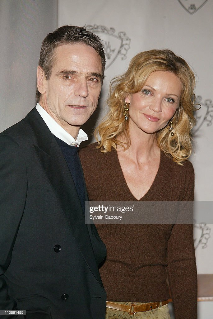Jeremy Irons, Joan Allen during The National Board of Review Awards Gala at Tavern on the Green in New York, New York, United States.