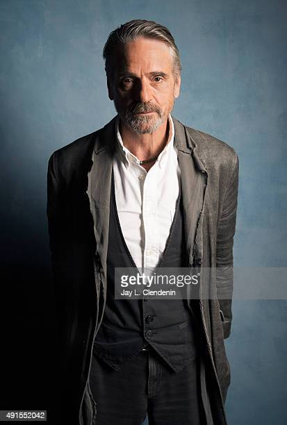 Jeremy Irons of 'The Man Who Knew Infinity' is photographed for Los Angeles Times on September 25 2015 in Toronto Ontario PUBLISHED IMAGE CREDIT MUST...