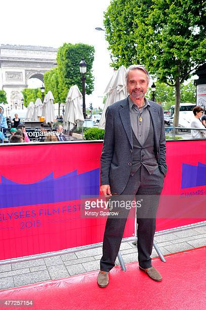 Jeremy Irons poses before his Masterclass during the 4th Champs Elysees Film Festival at Cinema Publicis on June 15 2015 in Paris France