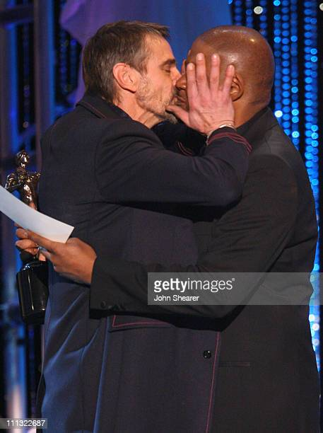 Jeremy Irons winner Outstanding Performance by a Male Actor in a Television Movie or Miniseries for 'Elizabeth I' with Forest Whitaker presenter...