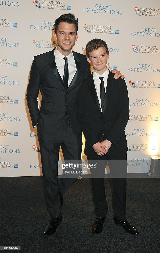<a gi-track='captionPersonalityLinkClicked' href=/galleries/search?phrase=Jeremy+Irvine&family=editorial&specificpeople=7595423 ng-click='$event.stopPropagation()'>Jeremy Irvine</a> (L) and brother Toby Irvine attend an after party following the Gala Premiere of 'Great Expectations' which closes the 56th BFI London Film Festival at Battersea Power station on October 21, 2012 in London, England.