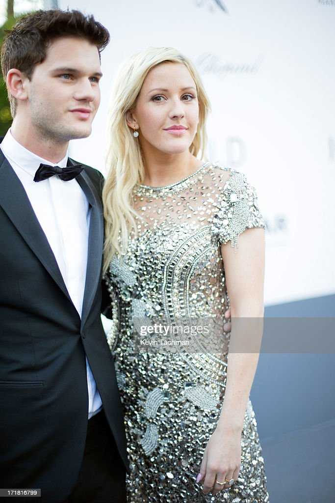 Jeremy Irvine and Ellie Goulding arrive at amfAR's 20th Annual Cinema Against AIDS at Hotel du Cap-Eden-Roc on May 23, 2013 in Cap d'Antibes, France.