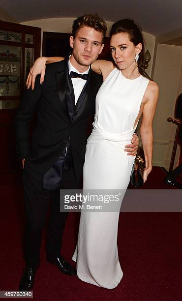 Jeremy Irvine and Vanessa Kirby attend an after party following the 60th London Evening Standard Theatre Awards at the London Palladium on November...