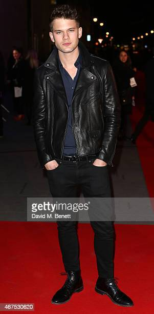 Jeremy Irvine arrives at the BBC Films' 25th Anniversary Reception at BBC Broadcasting House on March 25 2015 in London England