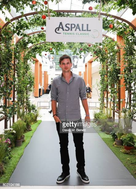 Jeremy Irvine attends the Aspall Tennis Classic at The Hurlingham Club on June 27 2017 in London England