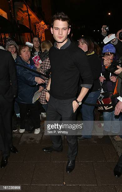 Jeremy Irvine attends the Charles Finch and Chanel preBAFTA dinner at Annabels on February 9 2013 in London England