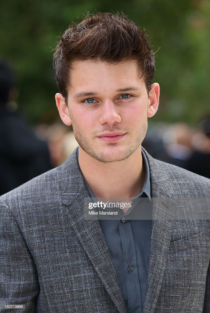 <a gi-track='captionPersonalityLinkClicked' href=/galleries/search?phrase=Jeremy+Irvine&family=editorial&specificpeople=7595423 ng-click='$event.stopPropagation()'>Jeremy Irvine</a> attends the front row for the Burberry Prorsum show on day 4 of London Fashion Week Spring/Summer 2013 on September 17, 2012 in London, England.