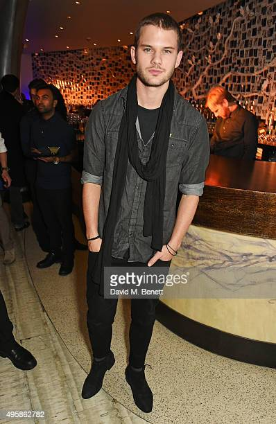 Jeremy Irvine attends the Nobu Berkeley St 10th anniversary party supported by Malone Souliers and Ciroc Vodka on November 5 2015 in London England
