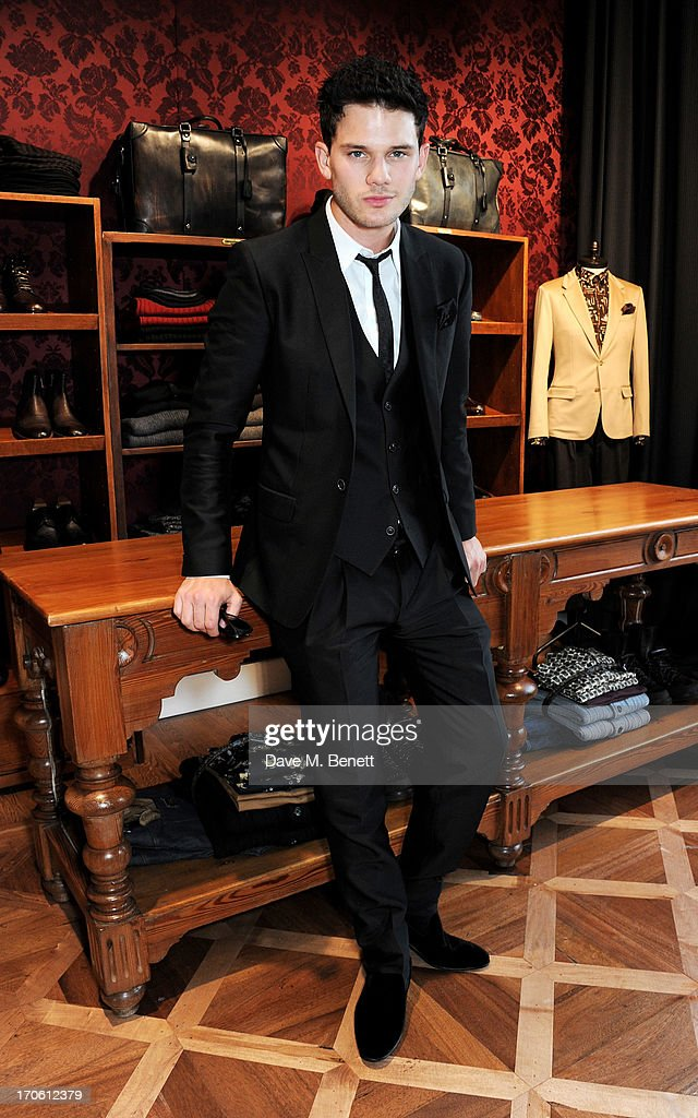 <a gi-track='captionPersonalityLinkClicked' href=/galleries/search?phrase=Jeremy+Irvine&family=editorial&specificpeople=7595423 ng-click='$event.stopPropagation()'>Jeremy Irvine</a> attends the opening of the new Dolce & Gabbana men's store with a preview of the Summer 2014 Tailoring Collection at Dolce & Gabbana on June 15, 2013 in London, England.