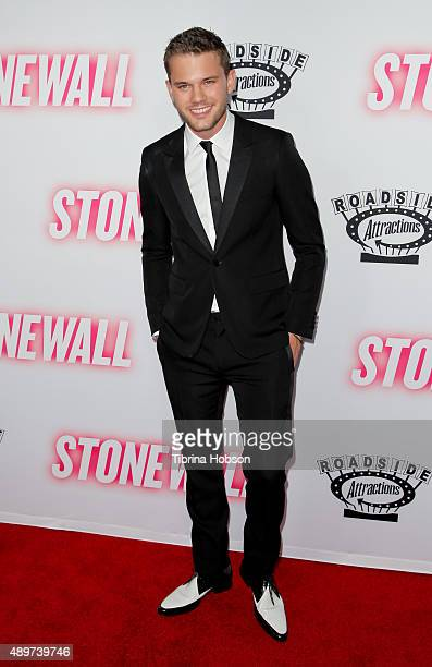 Jeremy Irvine attends the premiere of Roadside Attractions' 'Stonewall' at the Pacific Design Center on September 23 2015 in West Hollywood California
