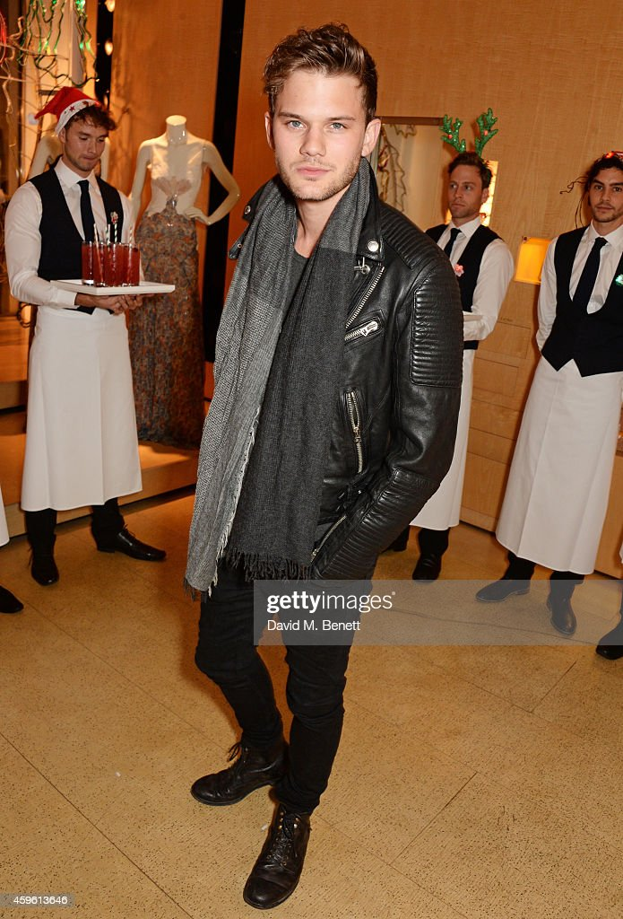 <a gi-track='captionPersonalityLinkClicked' href=/galleries/search?phrase=Jeremy+Irvine&family=editorial&specificpeople=7595423 ng-click='$event.stopPropagation()'>Jeremy Irvine</a> attends the Stella McCartney Christmas Lights Switch On at the Stella McCartney Bruton Street Store on November 26, 2014 in London, England.