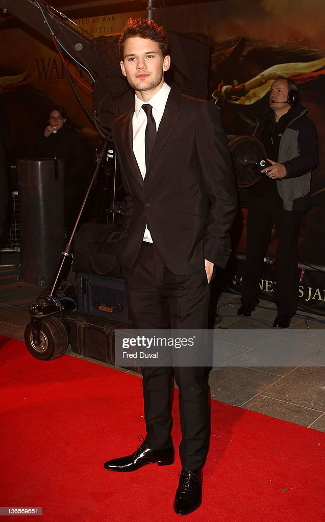 Jeremy Irvine attends the UK premiere of War Horse at Odeon Leicester Square on January 8, 2012 in London, England.