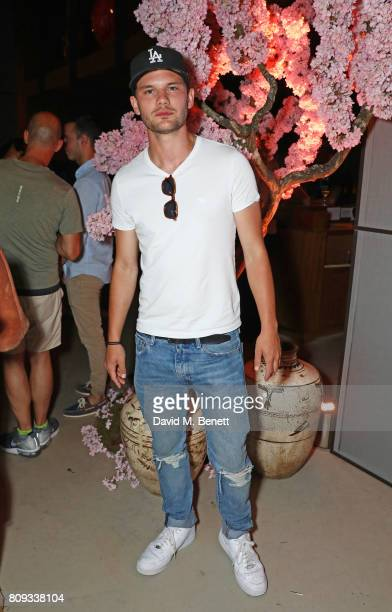 Jeremy Irvine attends the Warner Music Group and British GQ Summer Party in partnership with Quintessentially at Nobu Hotel Shoreditch on July 5 2017...