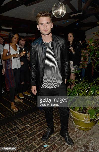 Jeremy Irvine attends the Warner Summer Party in association with British GQ at Shoreditch House on July 8 2015 in London England