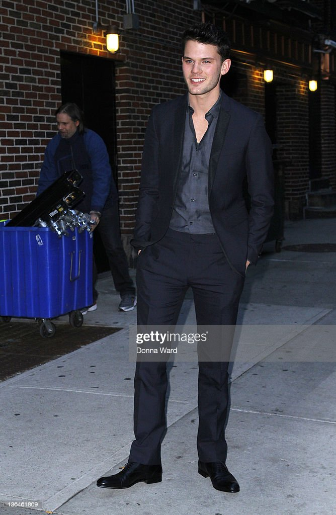 Jeremy Irvine leaves 'The Late Show with David Letterman' at Ed Sullivan Theater on January 5, 2012 in New York City.