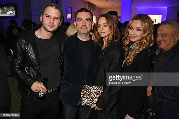 Jeremy Irvine Simon Aboud Stella McCartney and Camilla alFayed attend a cast and crew screening of 'This Beautiful Fantastic' at BAFTA on February 5...