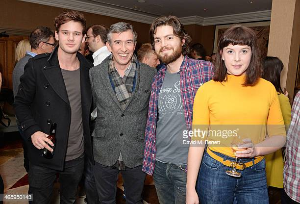 Jeremy Irvine Steve Coogan Tom Burke and Alexandra Roach attend a drinks reception and private screening of BAFTA and Oscar nominated film...